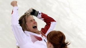 """""""Watch out!  That ice is really slippery, Jen."""""""